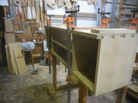 テレビボードの組み立て2 - 手作り家具工房の記録