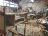 テレビボードの組み立て3 - 手作り家具工房の記録