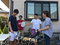真夏のBBQ@庭 - colorful sunny cafe roadster