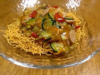 ☆野菜を炒めたら・簡単ランチの皿うどん☆ - ガジャのねーさんの  空をみあげて☆ Hazle cucu ☆