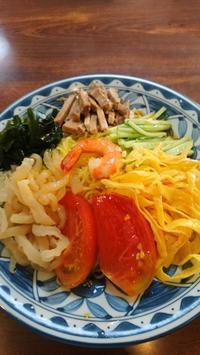 Waaqueで食べたNATSUMEN冷やし中華冷かけレモンおろしうどん平壌冷麺 - 鴎庵