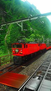 欅平駅黒部峡谷鉄道電気機関車 - 風の香に誘われて 風景のふぉと缶