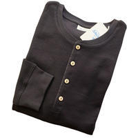 Schiesser シーサー ワッフルジャージー ヘンリーネックロングTシャツ Ernst (臨時休業のお知らせも) - 下町の洋服店 krunchの日記