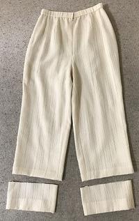 パンツの丈詰め - アトリエ A.Y. 洋裁教室