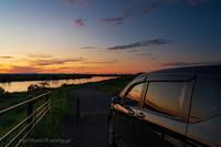 夕日を見ていた - デジタルで見ていた風景