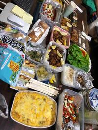 8月24日、宮島水中花火大会で、一品持ち寄り。今夜は家族各々各自でご飯 - 今夜のおかず