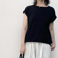 滑らかな素材地のフレンチTシャツ - MOUNT BLUE&dia grande