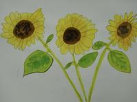 8/25 子供アート教室 〜向日葵を描く〜 - miwa-watercolor-garden