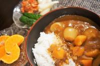■晩ご飯【いつものポークカレーが菜園小玉葱とインカノヒトミゴロゴロでコク深い旨さ!】 - 「料理と趣味の部屋」