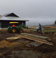 ログハウス、建設の経過/The Third and Forth Day of Logcabin Construction - アメリカからニュージーランドへ