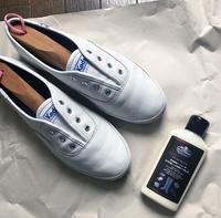 白レザースニーカーのお手入れ - ケチケチ贅沢日記