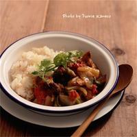 チキンと夏野菜のカレー - ふみえ食堂  - a table to be full of happiness -
