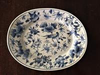 ブルー絵付けオーバル皿40Hold(Tomiz8.28) - スペイン・バルセロナ・アンティーク gyu's shop