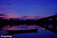 昔と変わらぬ舟のある情景 - 夕暮れと蒸気をおいかけて・・・