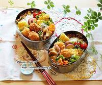 コロッケ弁当と角食♪ - ☆Happy time☆