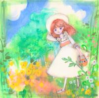 秘密の花園☆メアリーお嬢様下描き無しで描いたイラストです。 - ギャラリー I