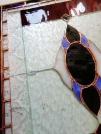 ステンドグラスのパネル完成 - うりずん's garden ~庭と物づくり~