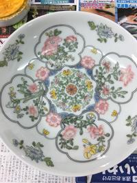 上海絵付け教室2回目 花柄の深皿 - 桃的美しき日々 [在中国無錫]