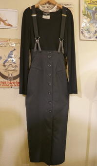 Skirt with suspenders - carboots