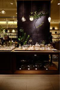 暗いところにガラスを飾る。Translucent daisuke takatomi glass show@銀座三越 - glass cafe gla_glaのグダグダな日々。