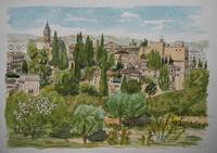 スペインの旅:アルハンブラ宮殿 - オヤジの水彩画集