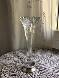 シルバー台クリスタル花瓶11 - スペイン・バルセロナ・アンティーク gyu's shop
