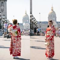 成人式撮影でパリ - 着物でパリ