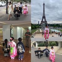 七五三撮影でパリ - 着物でパリ