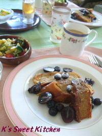 夏の終わりの日の朝食 - K's Sweet Kitchen