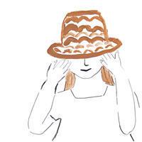 夏の思い出麦わら帽子 - イラストレーション ノート