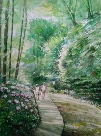 8月の課題 - まり子の水彩画