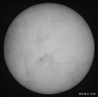 9月1日の太陽(10日ぶりの太陽!) - お手軽天体写真