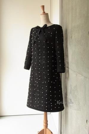 Pearl Tweed Dress - KeiFerida