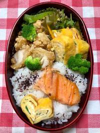 鮭弁当★(^^♪・・・・・息子弁当 - 日だまりカフェ