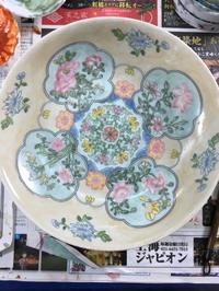上海絵付け教室3回目 花柄の深皿 - 桃的美しき日々