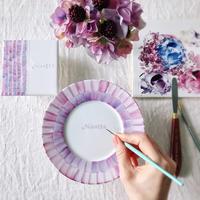 新作♢花咲く紫玉ねぎ - nicottoな暮らし~うつわとおやつの物語