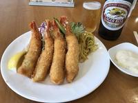 海老フライとビール♪@洋食おがわ(西八王子);部活後の最高の楽しみ - よく飲むオバチャン☆本日のメニュー