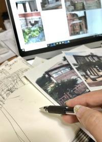 神戸の建築「風見鶏の館」「ラインの館」を入れたスペインタイルオーダーのデザインを考えています。 - スペインタイルYumi   design&create