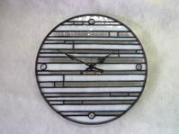 モダンな時計できました - atelier GLADYS  ステンドグラス工房 作り手の日々