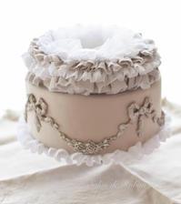 シャビーシック なリボンガーランドクレイケーキ - Salon de Ruban Rose