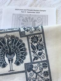 Linen and Threads Mystery Sampler Part-9 完成 - いとの色