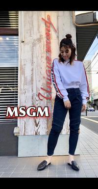 「MSGM エムエスジーエム」新作トップス入荷です。 - UNIQUE SECOND BLOG
