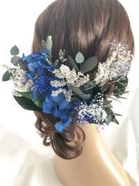 フラワーヘッドドレス 髪飾りのお花 - プリザーブドフラワーアレンジメント制作日記