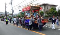 秋祭り 「山車」で東金ばやしを演奏 - 東金、折々の風景