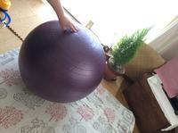椅子の代わりにバランスボールを! レフア邸 - Hawaiian LomiLomi サロン  華(レフア)邸