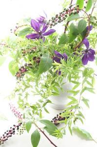 ヤマゴボウの魅力(^^♪ - お花に囲まれて