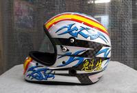 アライヘルメット謹製、競艇用のカーボンヘルメット入庫。その3、完成。 - DRESS OUT  White Blog