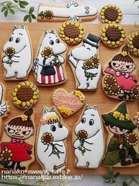 ムーミンとひまわり - nanako*sweets-cafe♪