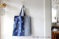 3枚の布でシンプルなA4サイズのぺタンコトート♪ - neige+ 手作りのある暮らし