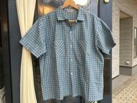 ~60's Dan River fabric S/S plaid shirt - BUTTON UP clothing